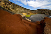 In el golfo lanzarote spain musk pond rock — Stockfoto