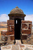 Lanzarote spain the old wall castle sentry tower and door i — Stock Photo