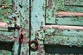 Abstract spain canariasn cwood door lanzarote — Stock Photo