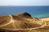 In lanzarote spain pond rock stone coastline and summer in la — Stockfoto