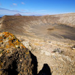 Los volcanes volcanic timanfaya  rock s — Stock Photo