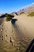 Abstract yellow dune beach hil mountain in the lanzarote sp — Foto de Stock
