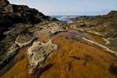 Spain landscape rock s water in lanzarote isle — Foto de Stock