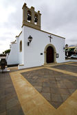 Bell tower teguise church arrecife — Stock Photo