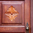 Spain knocker lanzarote abstract  in the red brown  — Stock Photo