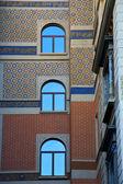 Wall window in the centre of city lugano Switzerland — Stock Photo
