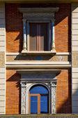 Window in the centre of city lugano Switzerland — Stock Photo
