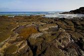 Spain musk rock sky water coastline summer in lanzarote — Stock Photo