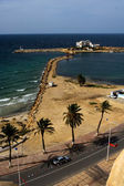 Panoramas monastir tunisia the castle slot mediterranean s — Stock Photo