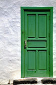 Spain colorated green wood as a — Stock Photo