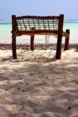 Seat deck beach rope — Zdjęcie stockowe