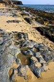 In lanzarote spain rock stone sky cloud be — Stock Photo