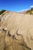 аннотация hil пляж дюны и горы в лансароте, испания — Стоковое фото