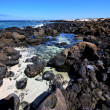 Sky light  beach water  in lanzarote  isle foam rock spain lands — Stok fotoğraf
