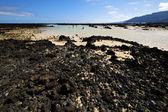 люди испании хилл белый пляж спираль черный лансароте — Стоковое фото