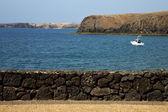 Coast lanzarote in spain musk water — Stock Photo