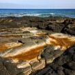 Landscape rock  lanzarote spain isle — Stock Photo