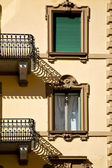 Old wall and terrace in the centre of city Switzerland — Stock Photo