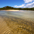 Pond coastline river in the blue madagascar nosy iranja — Stock Photo