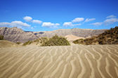 Abstract yellow dune beach hil and mountain in the lanzarote — Stock Photo