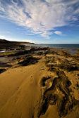 Sky coastline and summer in lanzarote spain — Stock Photo