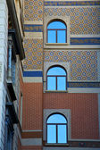 Wall window in the centre of city lugano Switzerland Swiss — Stok fotoğraf