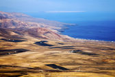 From the top in field coastline — Stock Photo