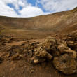 Vulcanic timanfaya rock stone sky hill and summer in los — Stock Photo #37118359