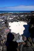 Sky isle foam rock spain landscape cloud — Stock Photo