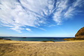 Spain sky cloud beach and in lanzarote — Stock Photo