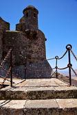 Step arrecife drawbridge lanzarote tower and door in teguis — Stock Photo