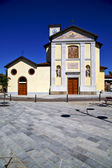 Cairate varese  the old wall terrace church watch bell tower — 图库照片