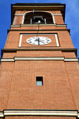 Cairate varese italy   the old wall terrace church watch bell — Stock Photo