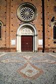 Church castiglione olona varese italy the old wall terrace — Stock Photo