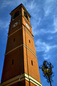 In cairate italy   the old wall terrace church watch bell tower — Stock Photo