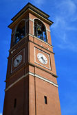 Italy   the old wall terrace church watch bell tower — Stock Photo