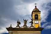 varese italy   church watch bell clock tower   — Stock Photo