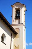 Church   olgiate olona   italy the old wall terrace church and b — Stock Photo