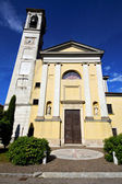 Church solbiate arno varese italy the old  terrace — Stock Photo