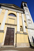 Distort church solbiate arno italy the old wall terrace church — Stock Photo