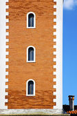Wall terrace church window chimney  tower — Stock Photo