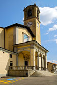 Parking church albizzate varese italy  old wall — Stock Photo