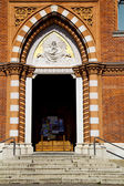 europe  varese italy abstract door  in the church   — Stock Photo