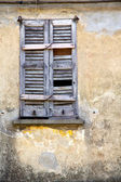 Lonate ceppino varese italy abstract  window    in the concrete — Stock Photo