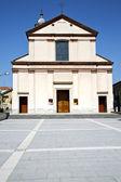 Church  venegono italy the old wall — Stock Photo