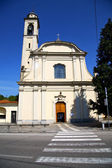 Church caidate italy the    clock and bell tower — Stock Photo