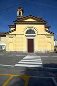 Church vinago   italy the old wall terrace — Stock Photo