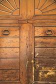 varese abstract  rusty   wood door vedano olona italy — Stockfoto