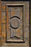 Castronno  varese   brown knocker  door  closed wood lombardy it — Foto Stock