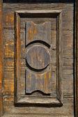 Castronno varese Kołatka brązowe drzwi zamknięte Lombardia drewna to — Zdjęcie stockowe